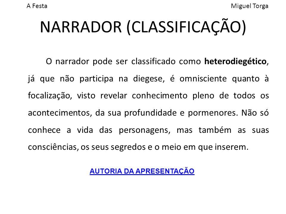 NARRADOR (CLASSIFICAÇÃO)