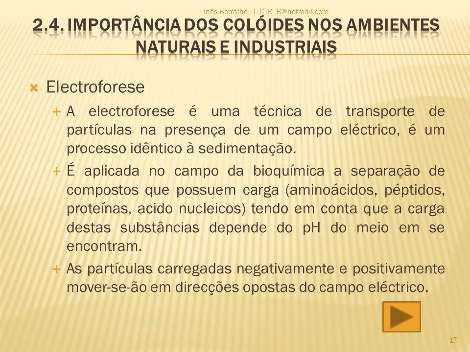2.4. Importância dos Colóides nos ambientes naturais e industriais