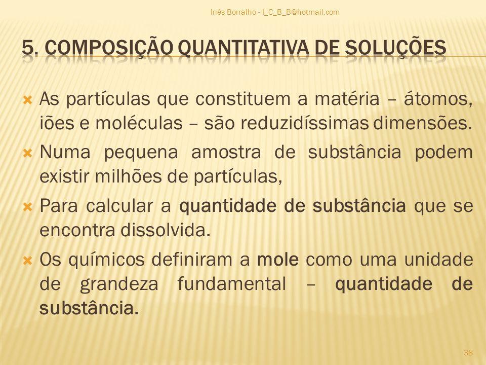 5. Composição quantitativa de soluções