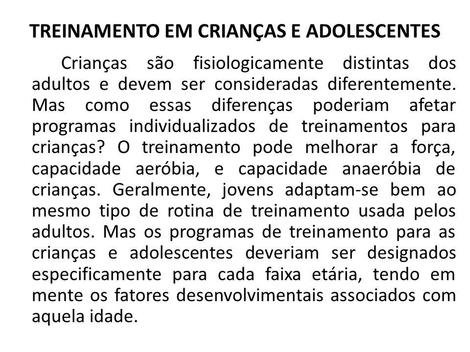 TREINAMENTO EM CRIANÇAS E ADOLESCENTES