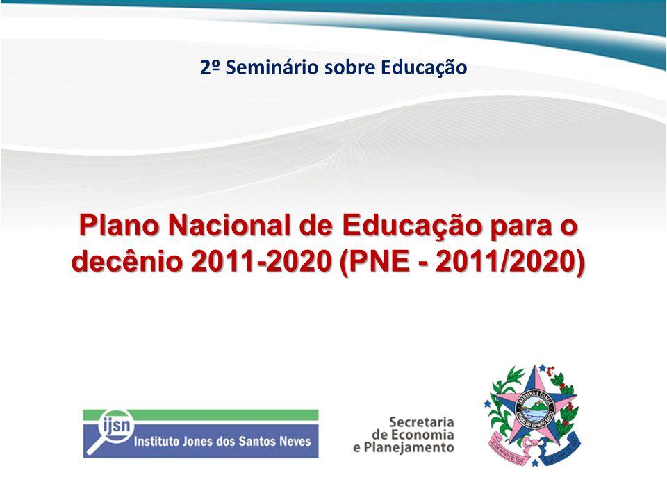 Plano Nacional de Educação para o decênio 2011-2020 (PNE - 2011/2020)