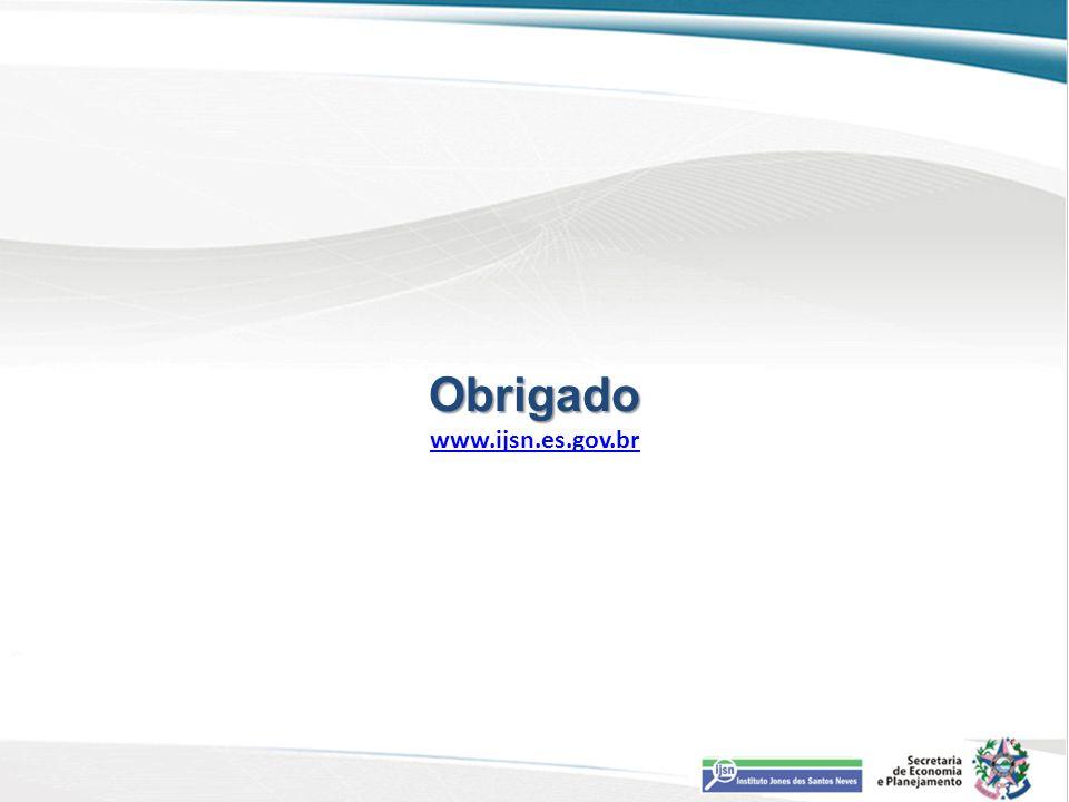 Obrigado www.ijsn.es.gov.br