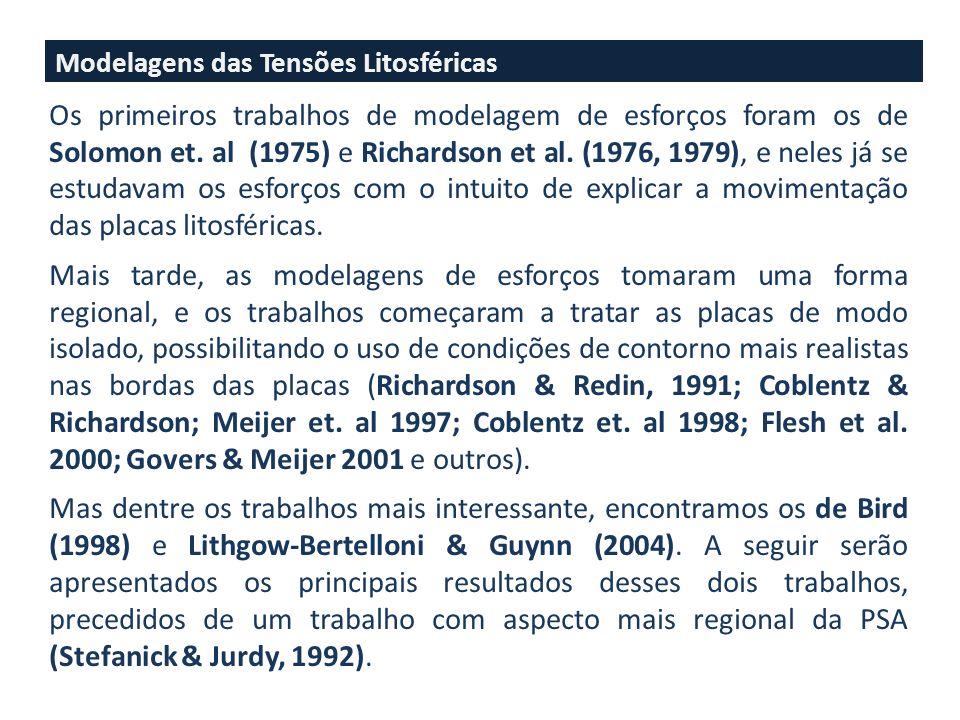 Modelagens das Tensões Litosféricas