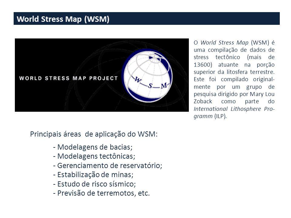 World Stress Map (WSM) Principais áreas de aplicação do WSM:
