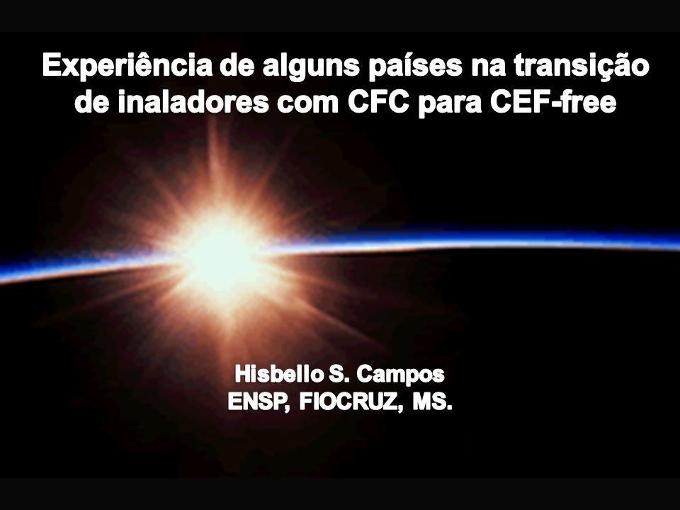 Experiência de alguns países na transição de inaladores com CFC para CEF-free