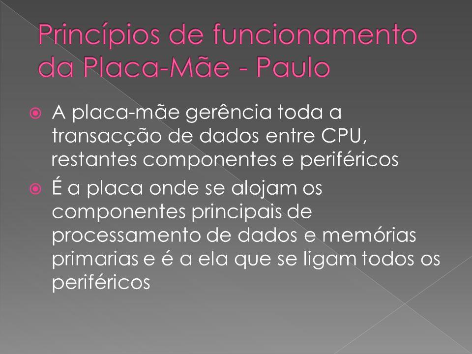 Princípios de funcionamento da Placa-Mãe - Paulo
