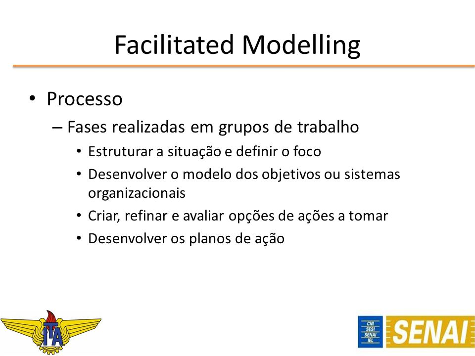 Facilitated Modelling
