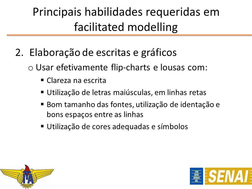 Principais habilidades requeridas em facilitated modelling