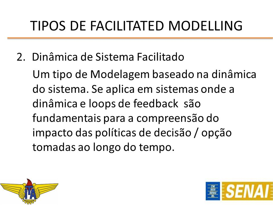 TIPOS DE FACILITATED MODELLING