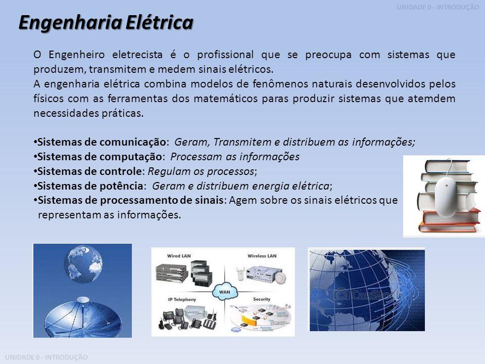 Engenharia Elétrica O Engenheiro eletrecista é o profissional que se preocupa com sistemas que produzem, transmitem e medem sinais elétricos.