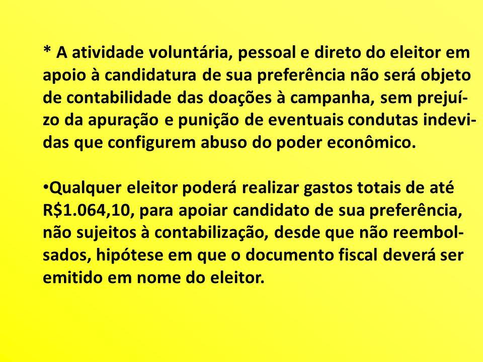 * A atividade voluntária, pessoal e direto do eleitor em