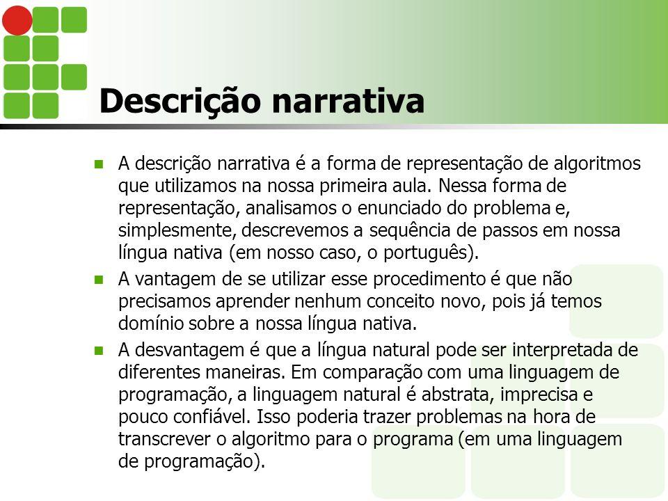 Descrição narrativa