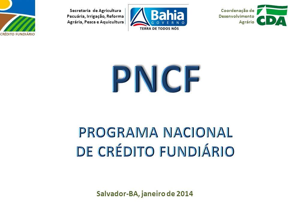 PNCF PROGRAMA NACIONAL DE CRÉDITO FUNDIÁRIO