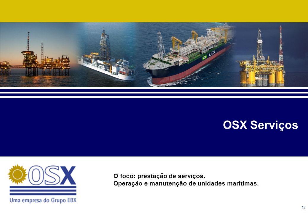 OSX Serviços O foco: prestação de serviços.