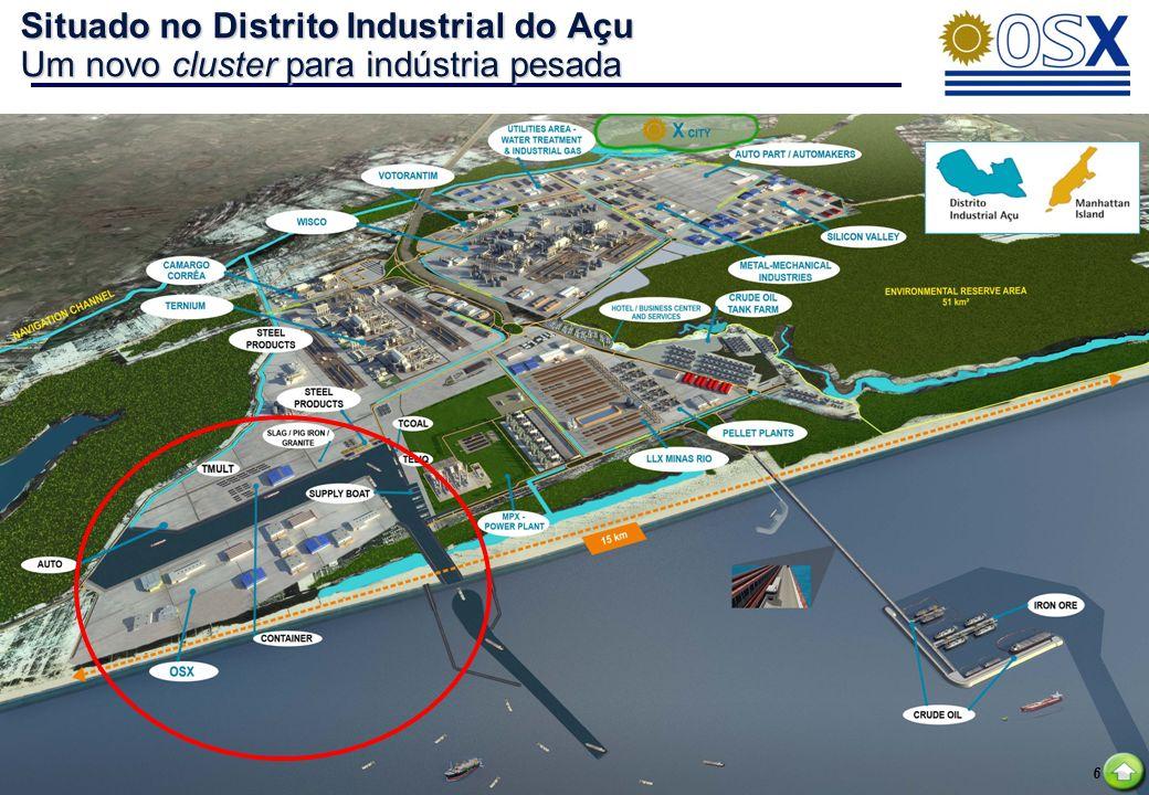 Situado no Distrito Industrial do Açu Um novo cluster para indústria pesada
