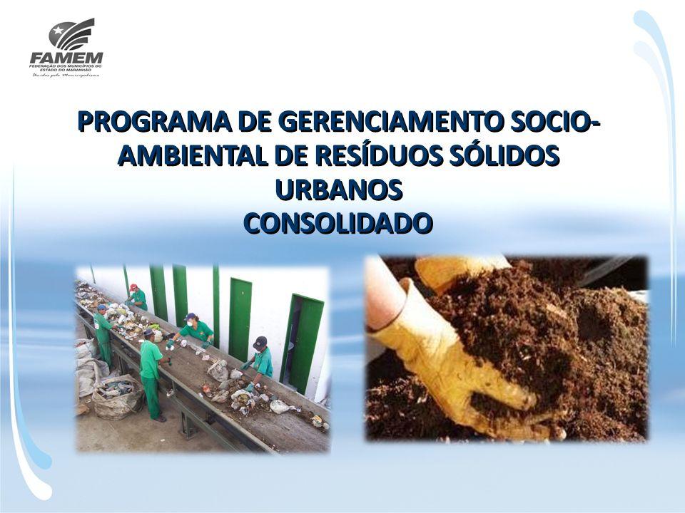 PROGRAMA DE GERENCIAMENTO SOCIO-AMBIENTAL DE RESÍDUOS SÓLIDOS URBANOS