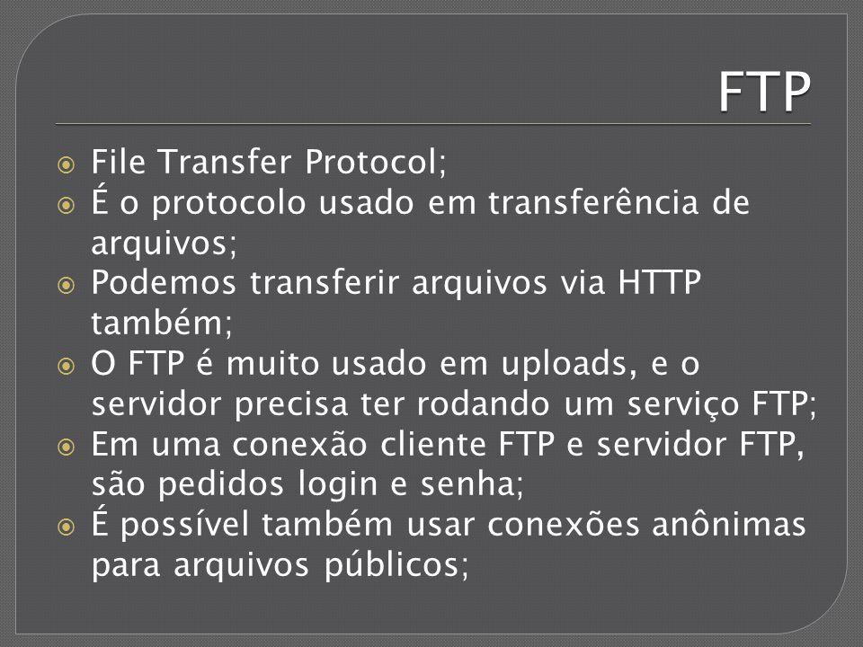 FTP File Transfer Protocol;
