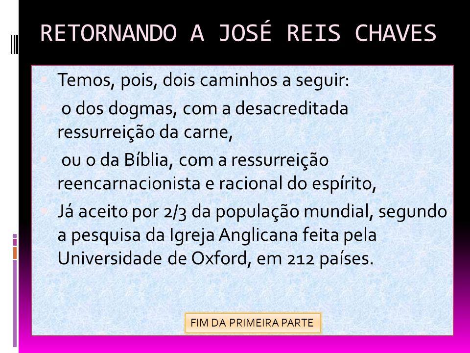 RETORNANDO A JOSÉ REIS CHAVES