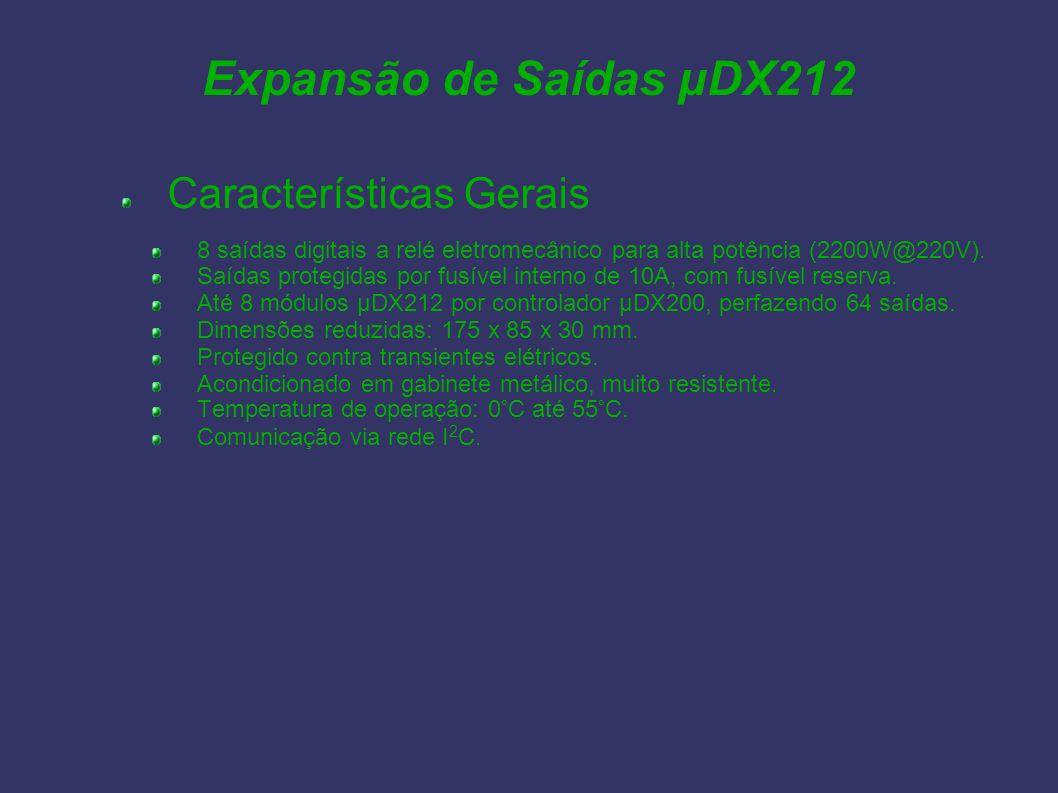 Expansão de Saídas µDX212 Características Gerais