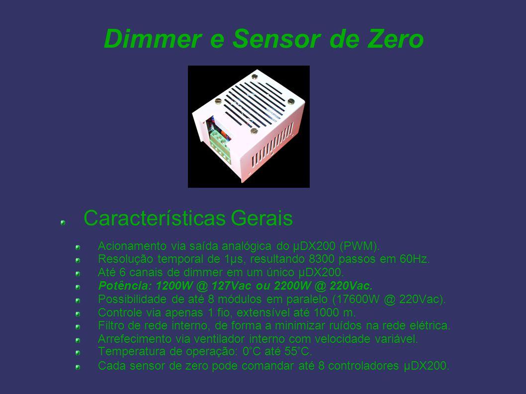 Dimmer e Sensor de Zero Características Gerais