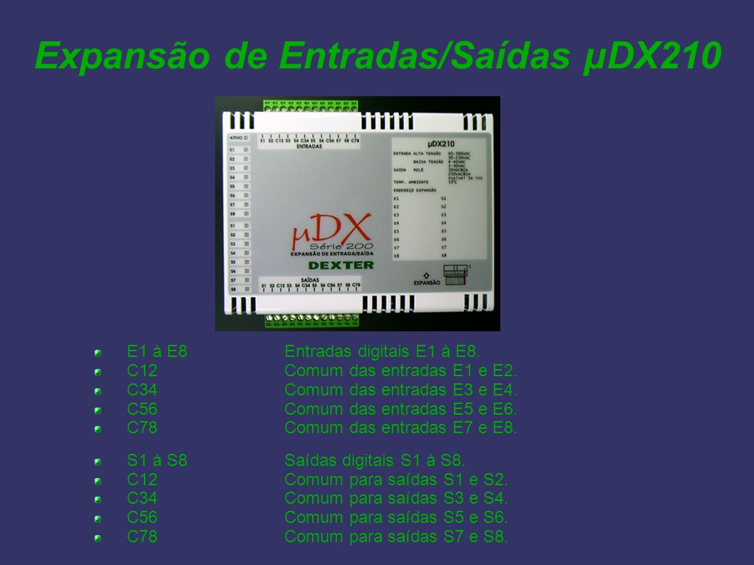 Expansão de Entradas/Saídas µDX210