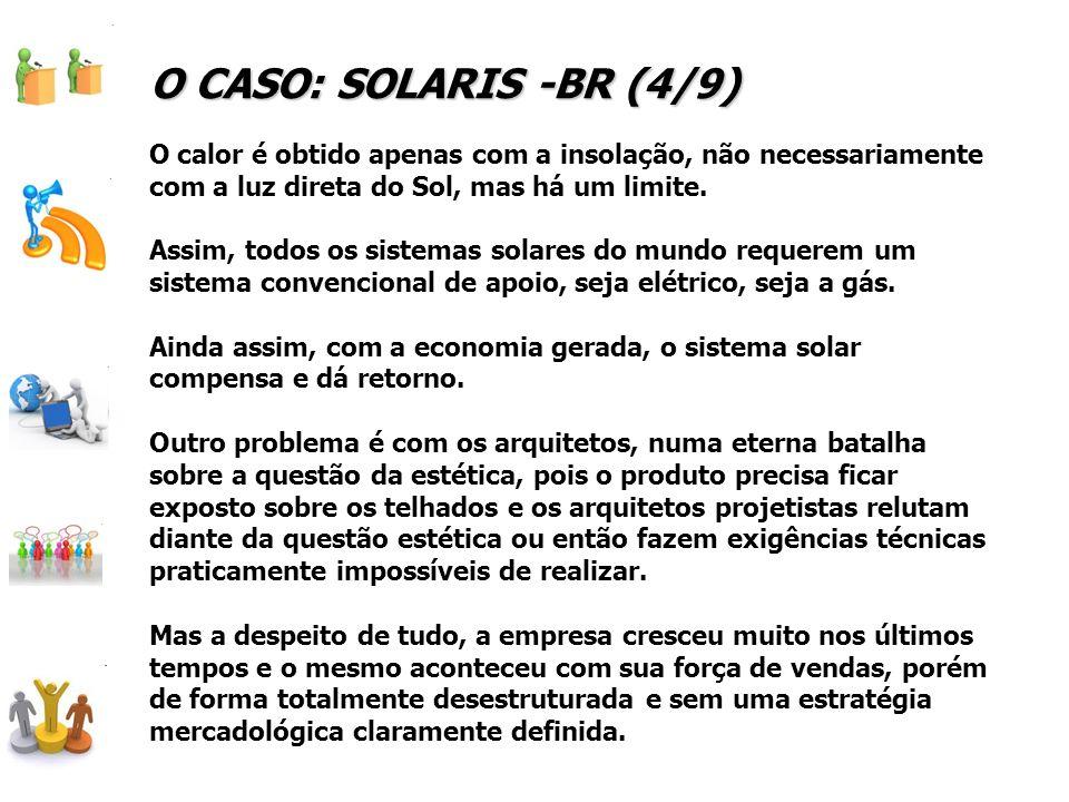 O CASO: SOLARIS -BR (4/9) O calor é obtido apenas com a insolação, não necessariamente com a luz direta do Sol, mas há um limite.