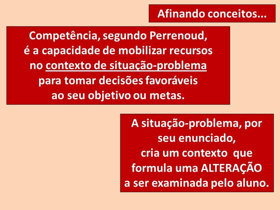 Competência, segundo Perrenoud, é a capacidade de mobilizar recursos
