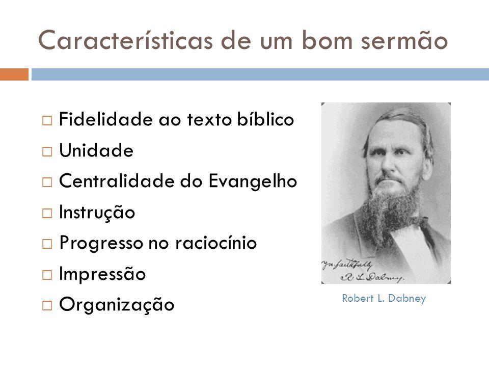 Características de um bom sermão