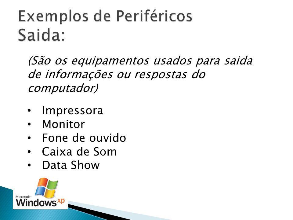 Exemplos de Periféricos Saida: