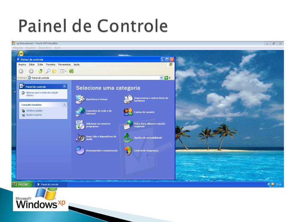 Painel de Controle Inicialmente o painel de controle vem em modo de exibição por categoria