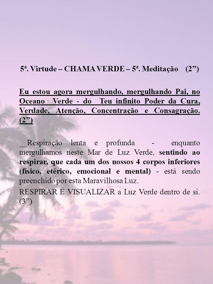 5ª. Virtude – CHAMA VERDE – 5ª