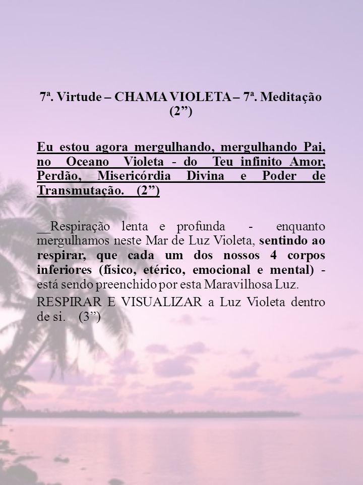 7ª. Virtude – CHAMA VIOLETA – 7ª. Meditação (2 )