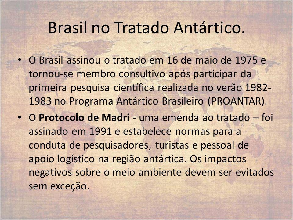 Brasil no Tratado Antártico.