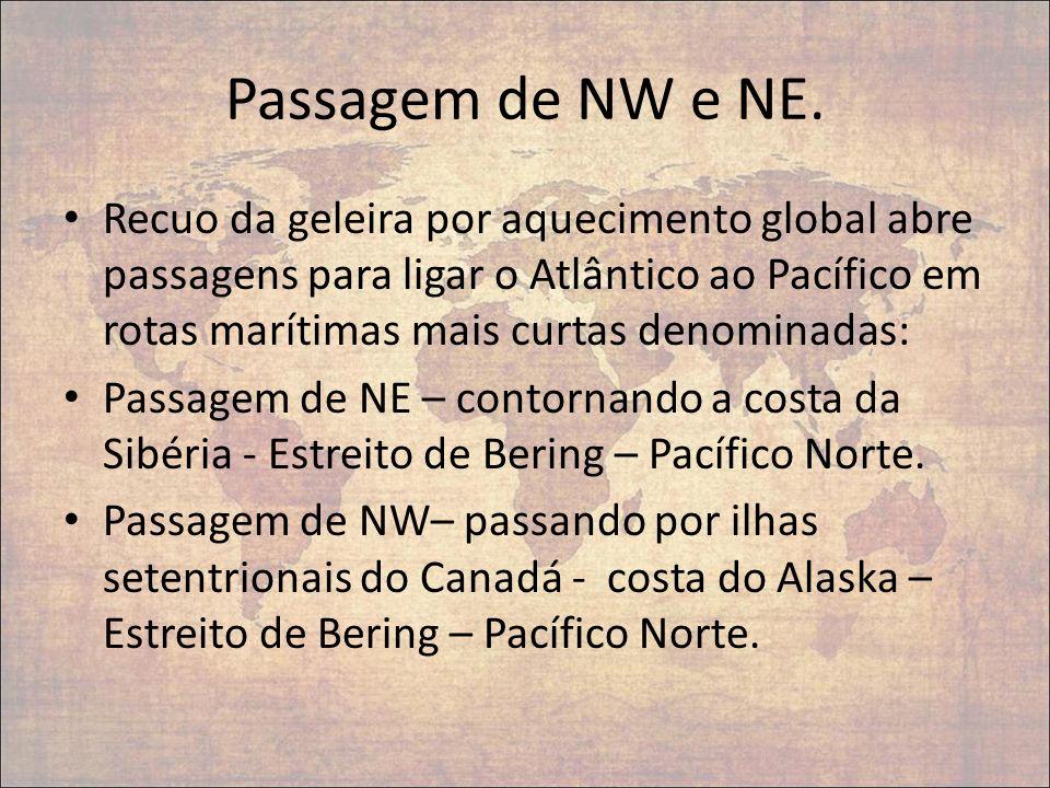 Passagem de NW e NE.