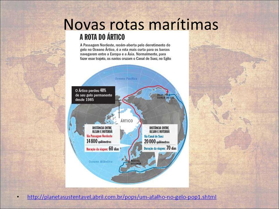 Novas rotas marítimas http://planetasustentavel.abril.com.br/pops/um-atalho-no-gelo-pop1.shtml