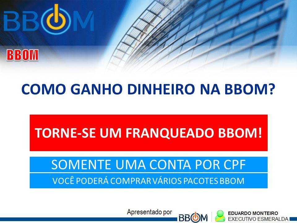 COMO GANHO DINHEIRO NA BBOM TORNE-SE UM FRANQUEADO BBOM!