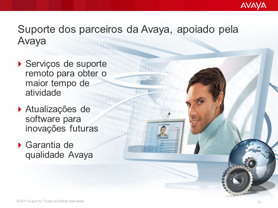 Suporte dos parceiros da Avaya, apoiado pela Avaya