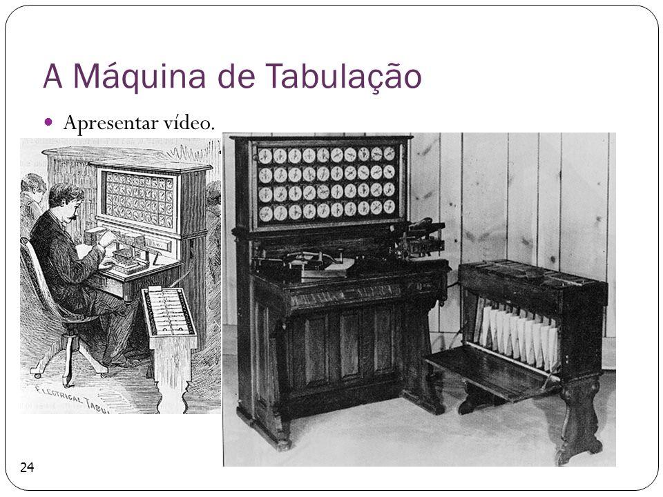 A Máquina de Tabulação Apresentar vídeo.