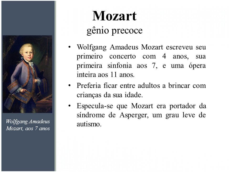 Mozart gênio precoce