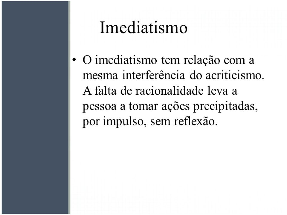 Imediatismo