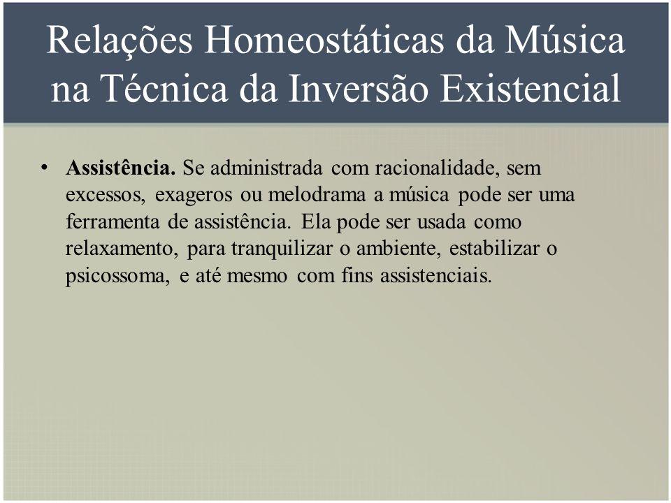 Relações Homeostáticas da Música na Técnica da Inversão Existencial