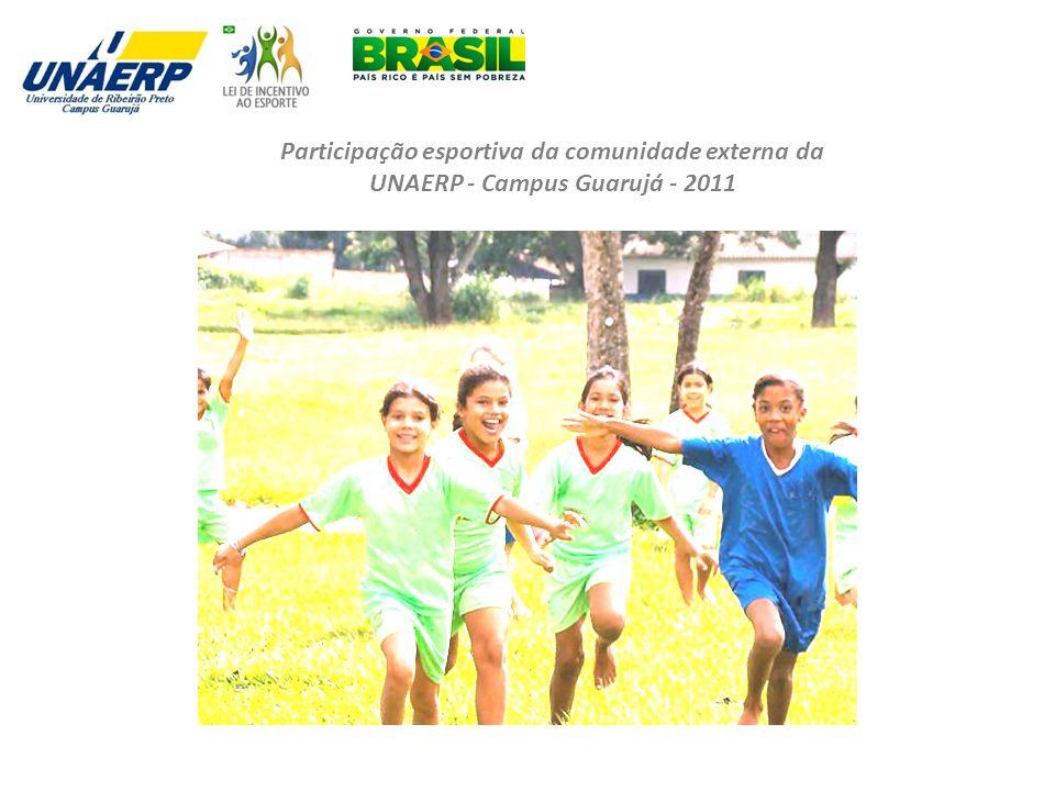Participação esportiva da comunidade externa da UNAERP - Campus Guarujá - 2011