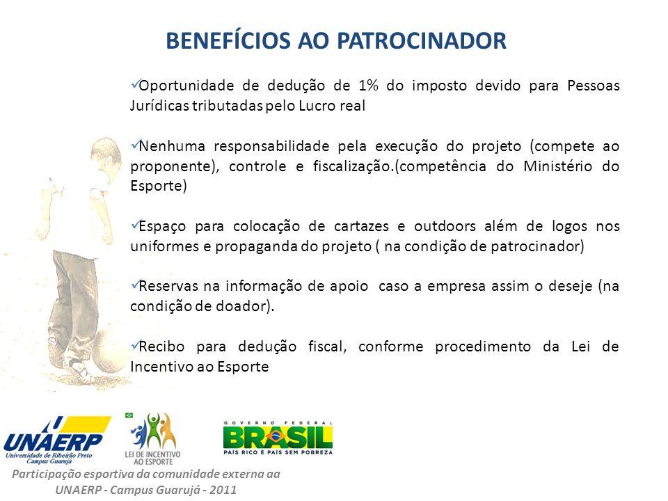 BENEFÍCIOS AO PATROCINADOR