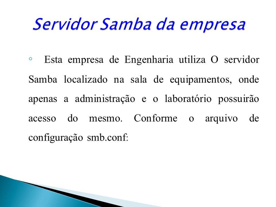 Servidor Samba da empresa