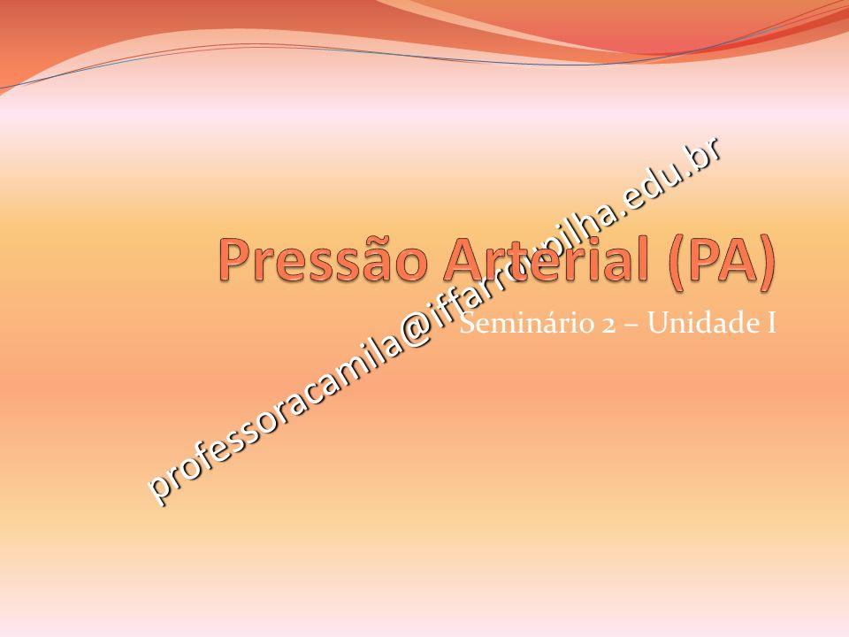 Pressão Arterial (PA) professoracamila@iffarroupilha.edu.br