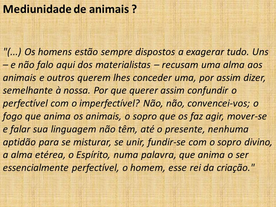 Mediunidade de animais