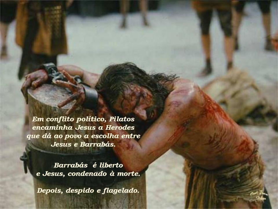 Em conflito político, Pilatos encaminha Jesus a Herodes