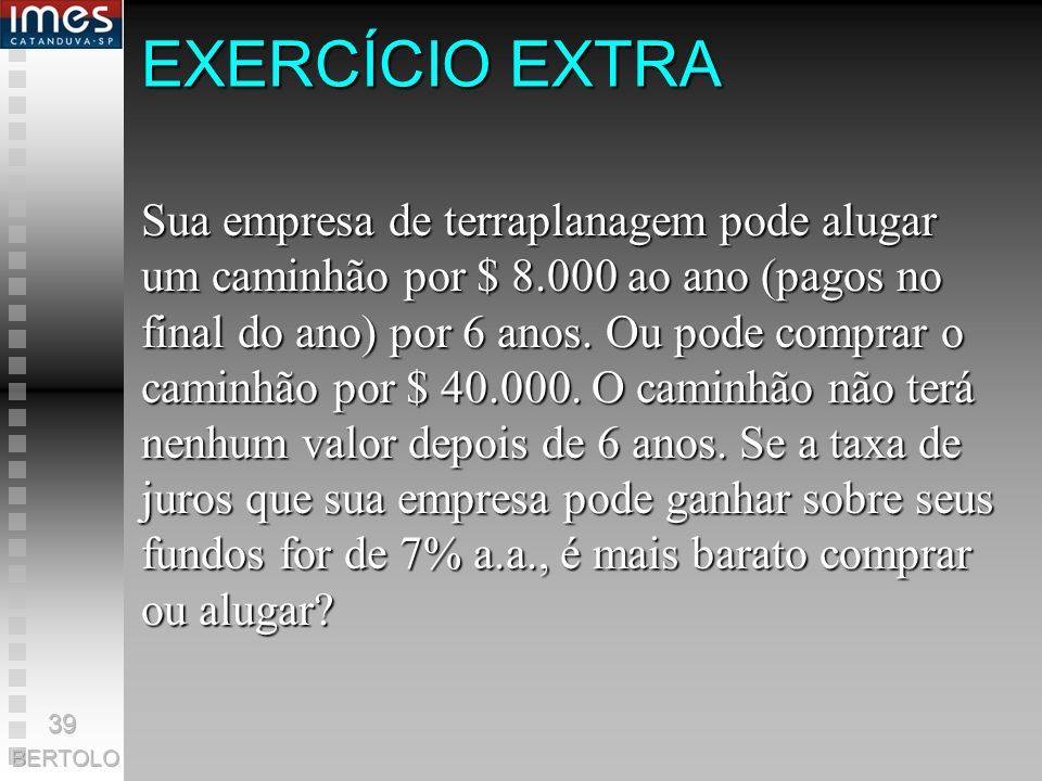 EXERCÍCIO EXTRA