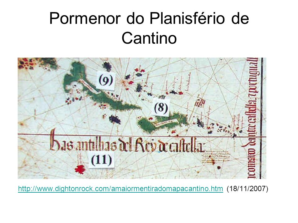 Pormenor do Planisfério de Cantino