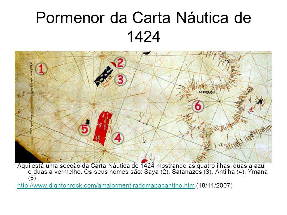 Pormenor da Carta Náutica de 1424